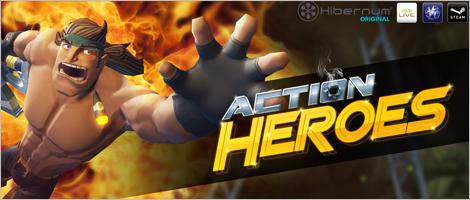 Illustration du jeu vidéo Action Heroes. Illustration fournie par Hibernum.
