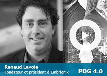 Photo de Renaud Lavoie, fondateur et président d'Embrionix»