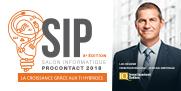 Logo du Salon SIP 2018 et photo de Luc Régnier, Directeur régional, Capitale Nationale