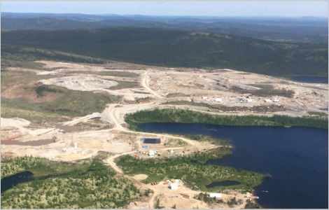 Aerial view of the Renard project site