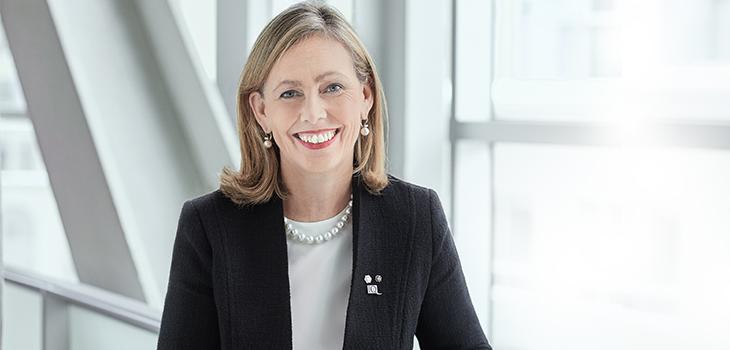 Photo de Monique F. Leroux, présidente du conseil d'administration d'Investissement Québec