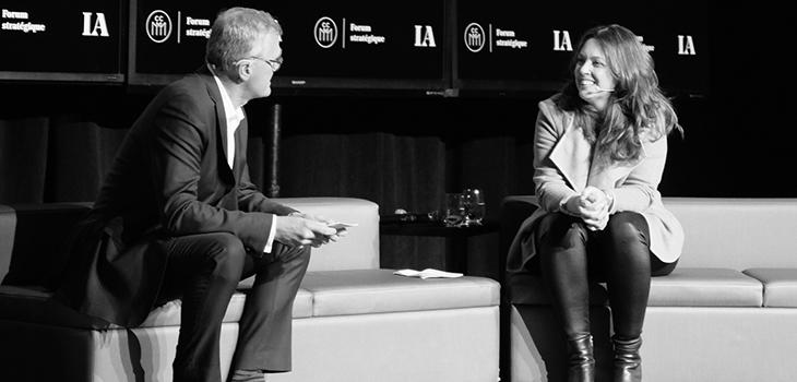 Photo de Pierre Gabriel Côté, PDG d'Investissement Québec, et de Marie-Josée Lamothe, présidente de Tandem International