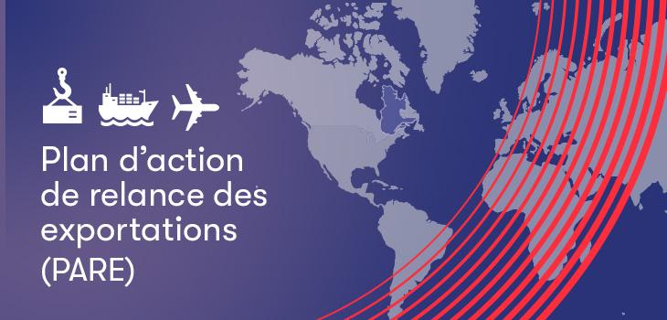 Bannière Plan d'action de relance des exportations (PARE)