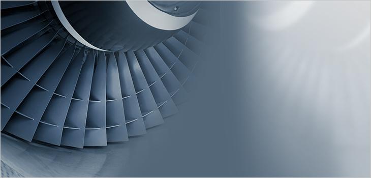 Photo of an aircraft engine
